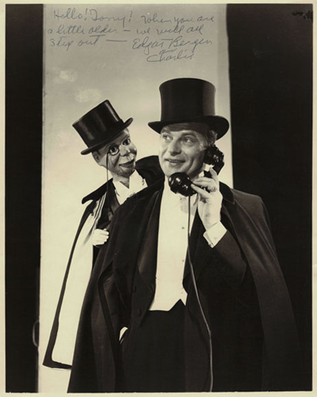 Edgar Bergen note to Tony Pacini