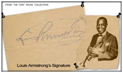 Louis Armstrong Signature